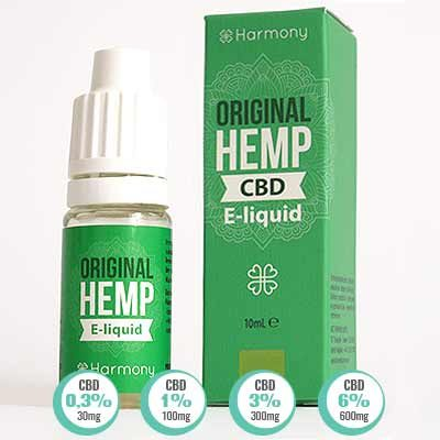 Original Hemp CBD E Liquid Harmony