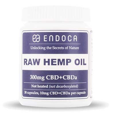 Endoca RAW CBD Oil 3% Capsules